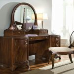Wooden Vanity Set with Lighted Mirror