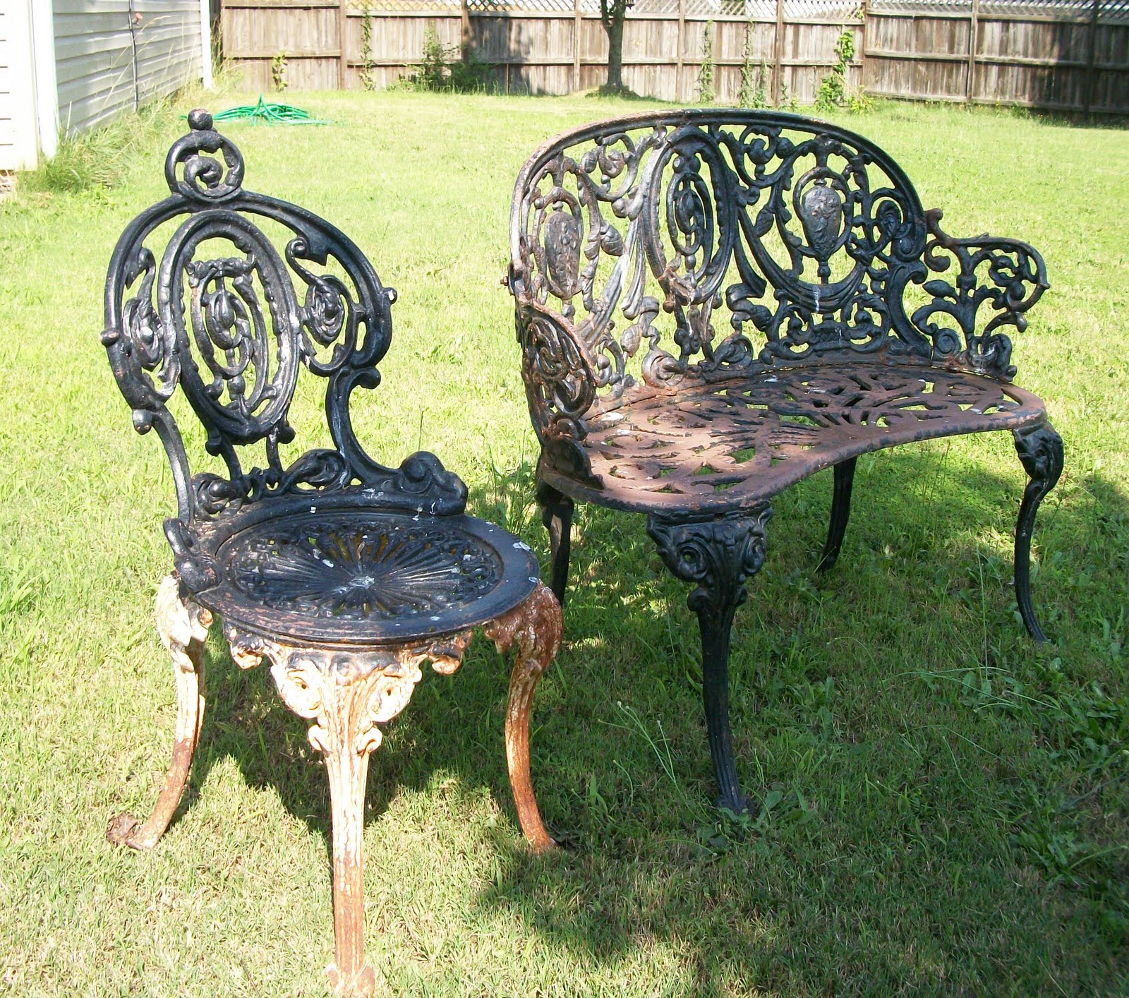 Image of: wrought iron chairs furniture