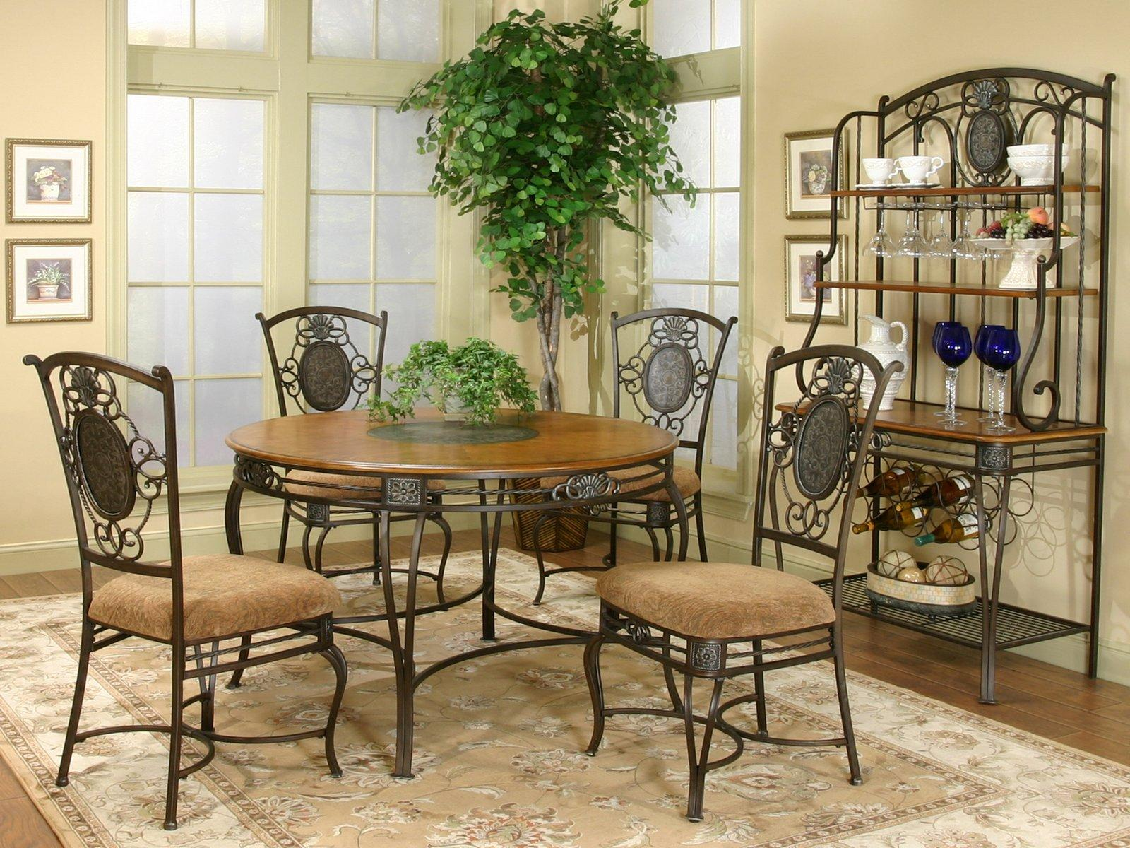 Image of: wrought iron chairs for dining room