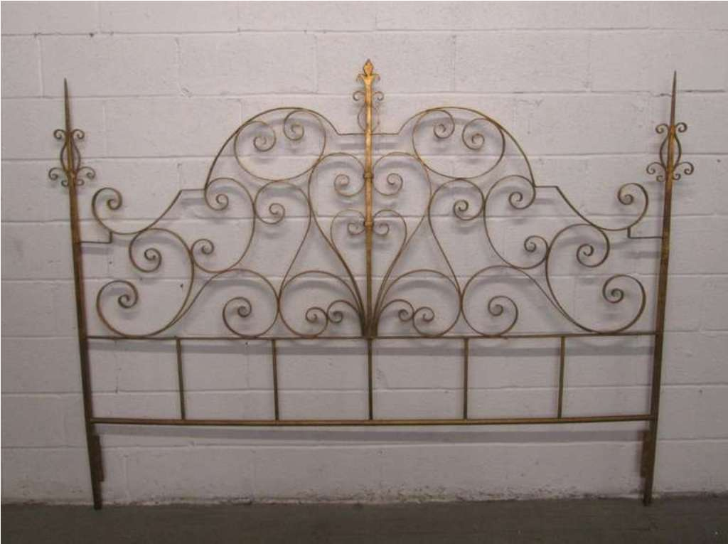 Image of: Wrought Iron Headboards Full Size