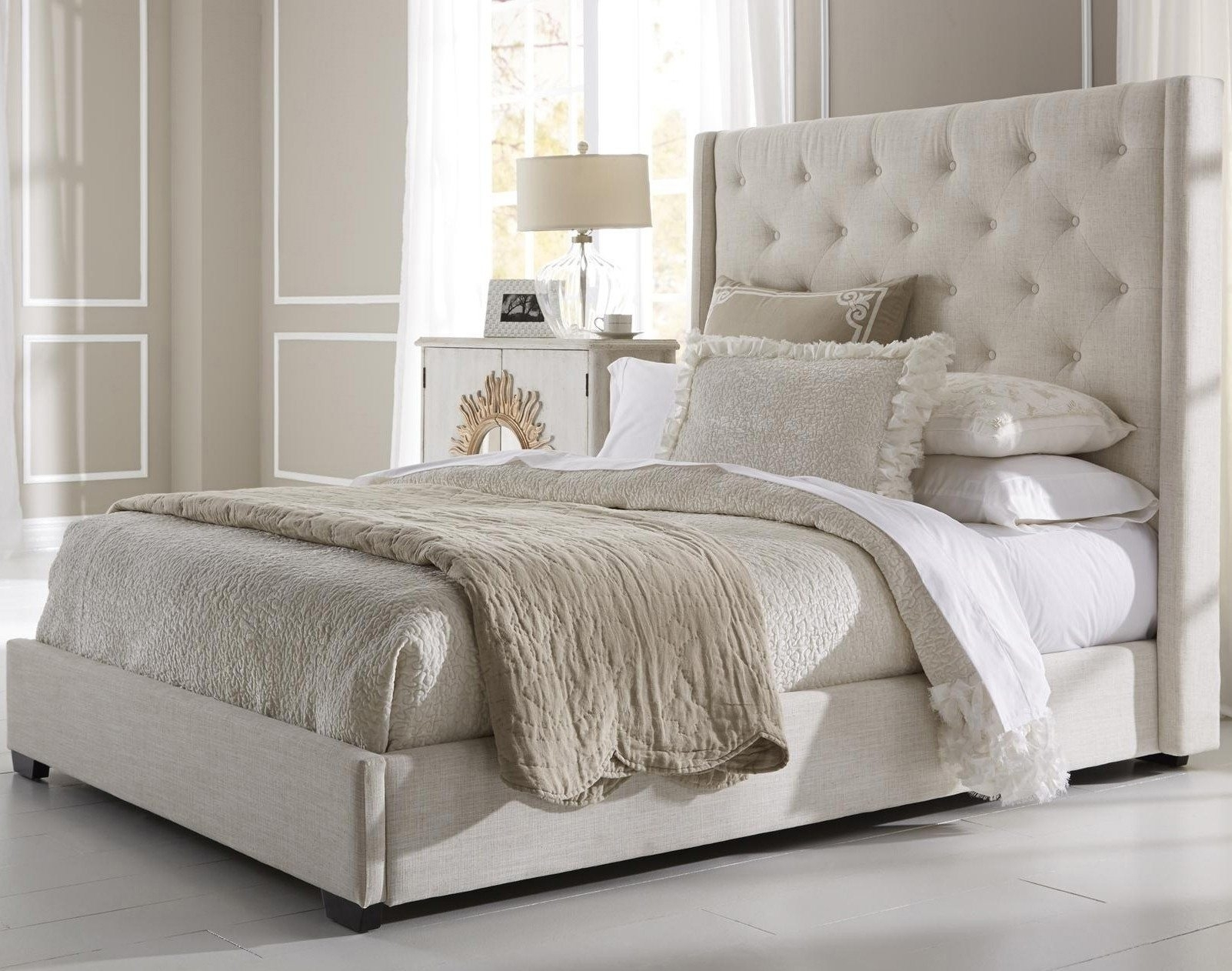 Image of: Graceful Tufted Headboards