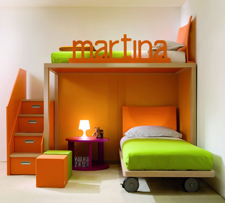 Image of: kids bedroom furniture sets color