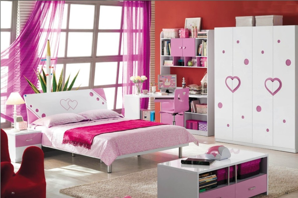 Image of: Kids Bedroom Furniture Set For Girl