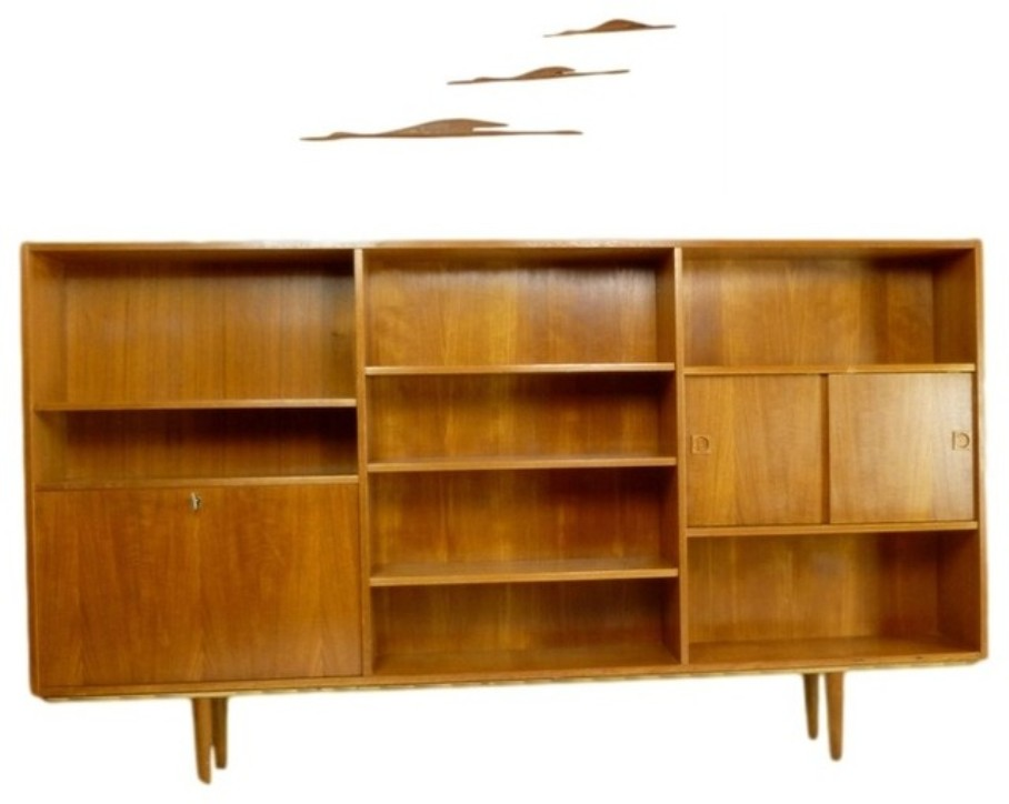 Image of: mid century bookcase
