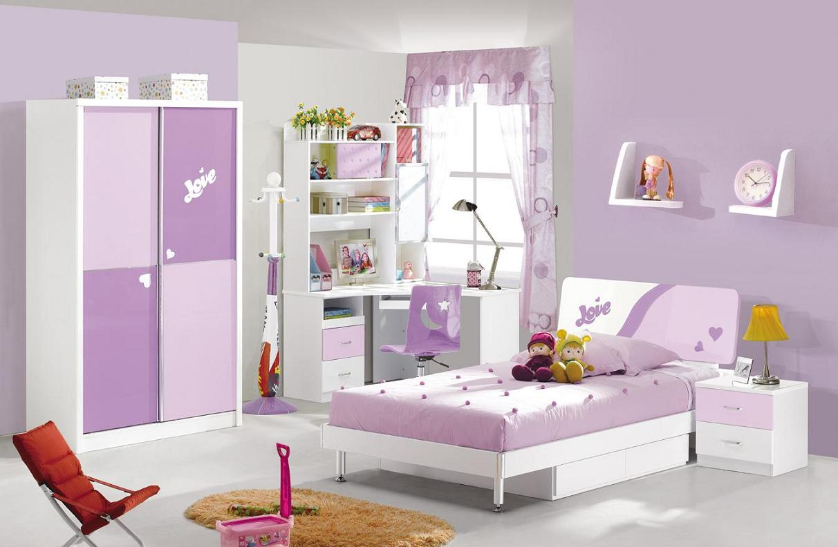 Image of: purple kids bedroom furniture sets