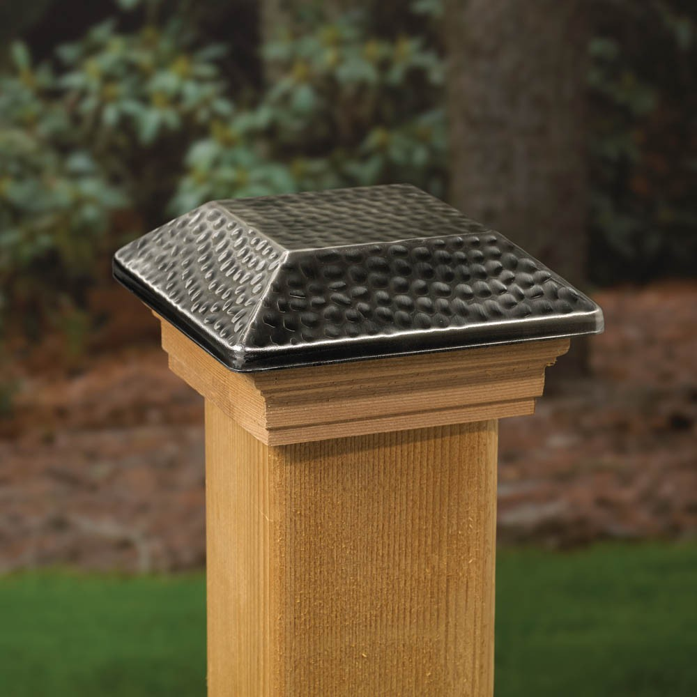 Image of: 4×4 Solar Deck Post Caps