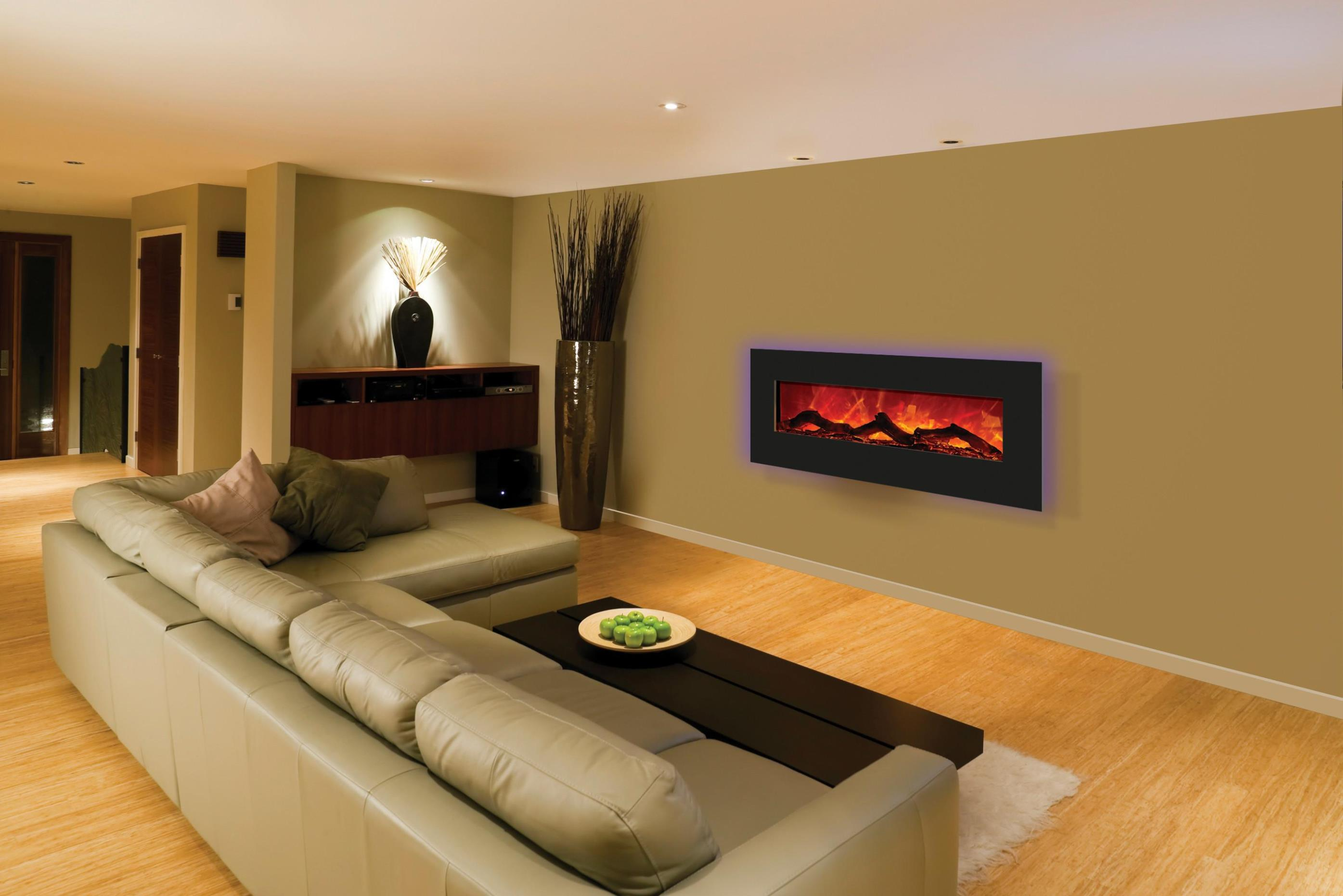 Image of: 50 Electric Wall Mounted Fireplace