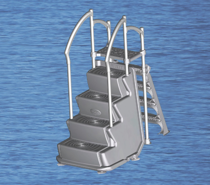 Above Ground Pool Deck Ladder Image
