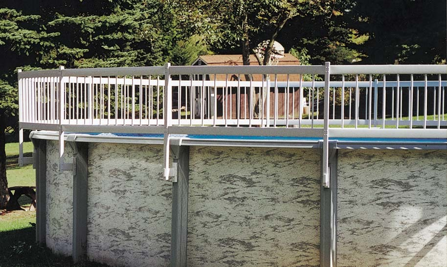 Image of: Above Ground Pool Fence Ideas