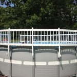Above Ground Pool Fence White