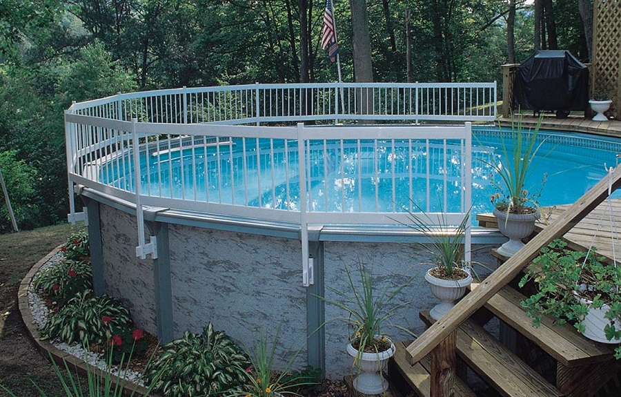 Above Ground Pool Fence and Stair