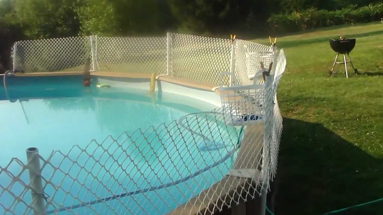 Image of: Above Ground Pool Fence
