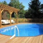 Above ground pool deck designs Down to Pool