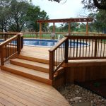Above ground pool deck designs Images