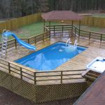 Above ground pool deck designs Included