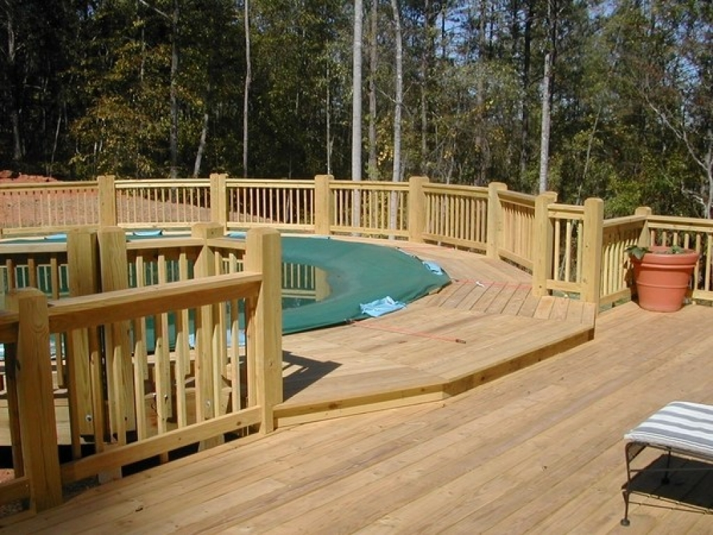 Image of: Above Ground Pool Deck Designs Prices