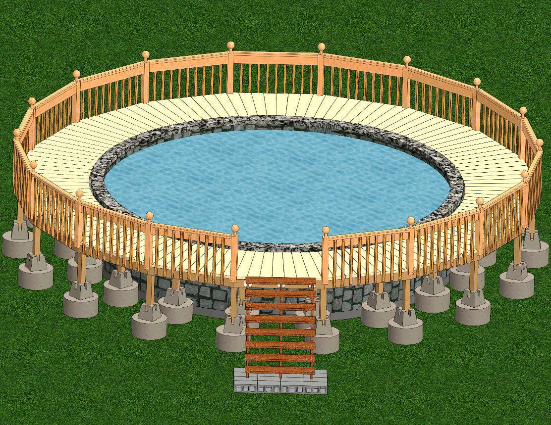 Image of: Pool Deck Designs and Gazebos