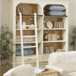 Admirable White Leaning Bookcase