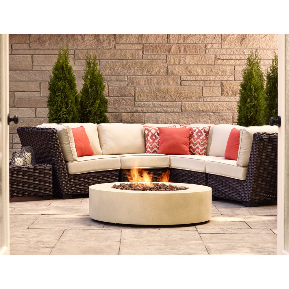 Image of: Allen Roth Patio Furniture Set Scene