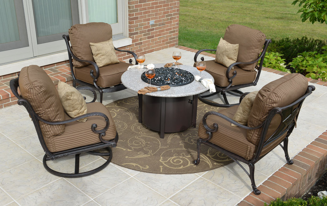 Image of: Aluminum Patio Conversation Sets