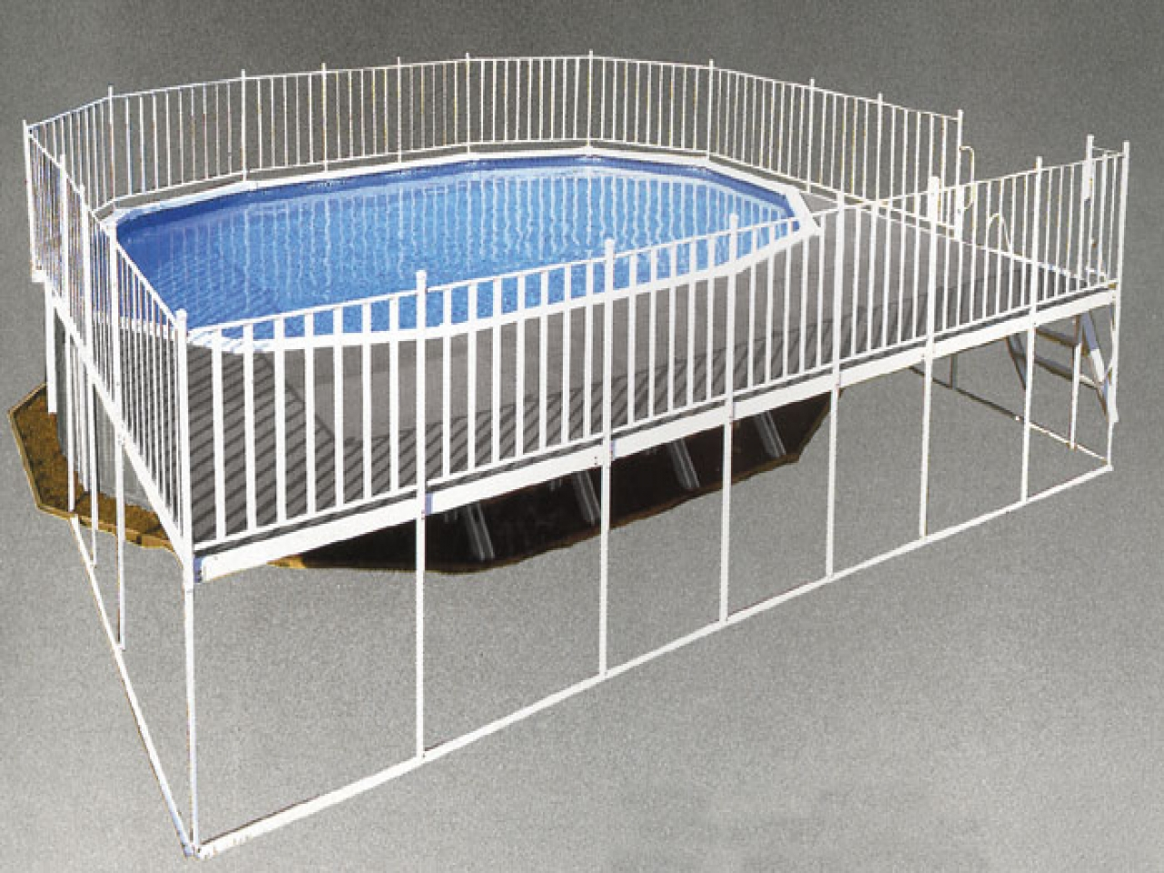 Image of: Aluminum Pool Deck Plans