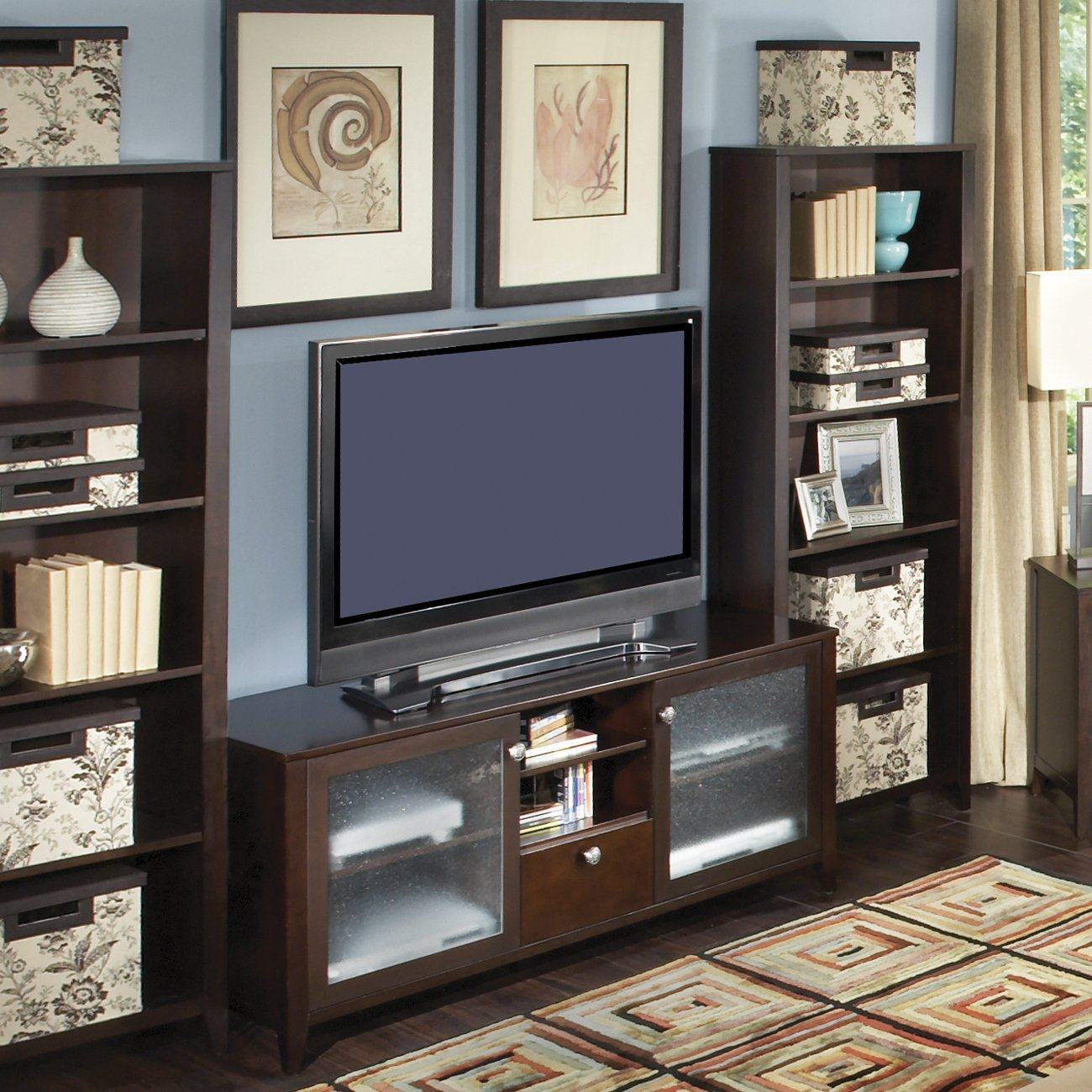 Image of: Amazing Bookcase Tv Stand