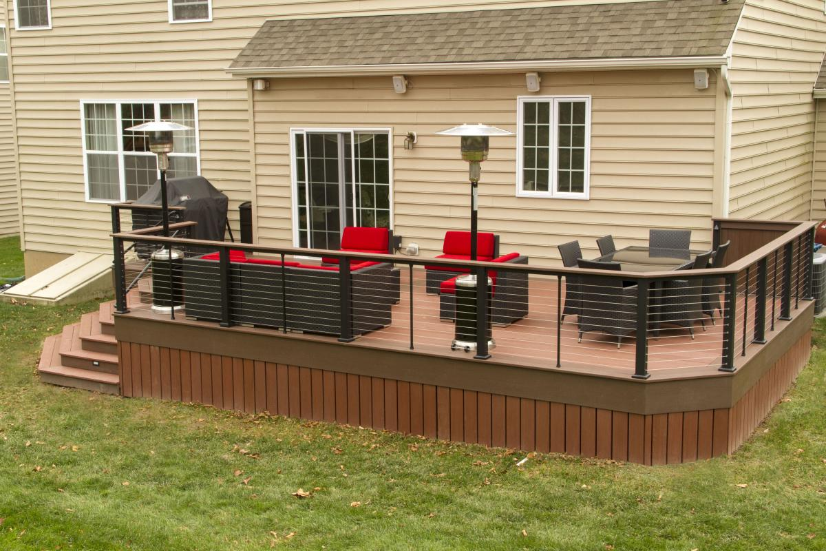 Image of: Amazing Cable Deck Railing