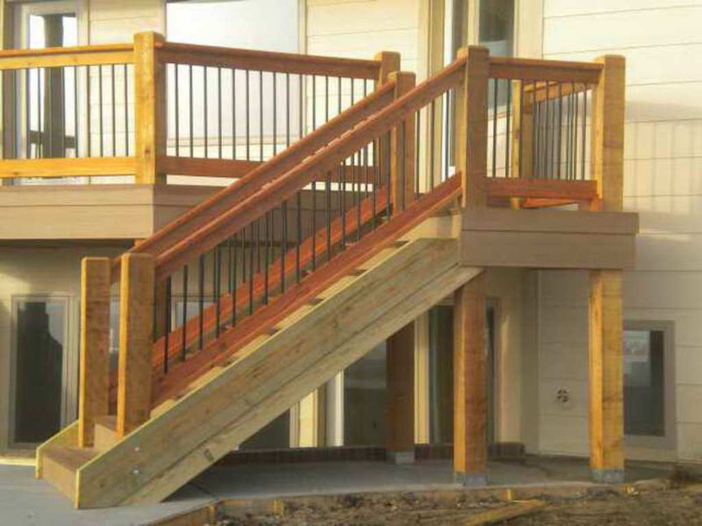 Image of: Amazing Deck Stair Railing
