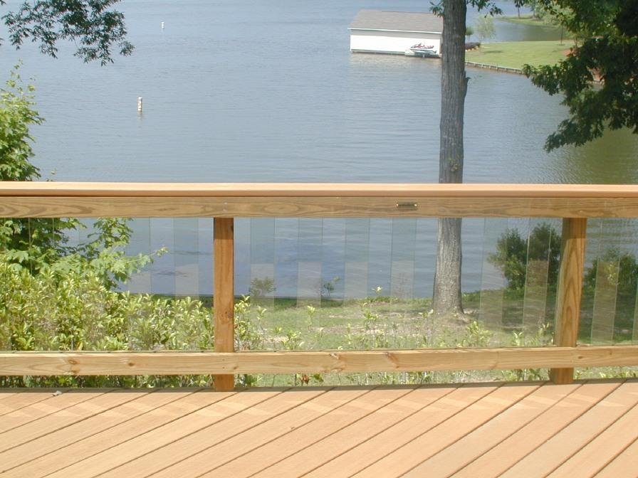 Image of: Amazing Glass Deck Railing