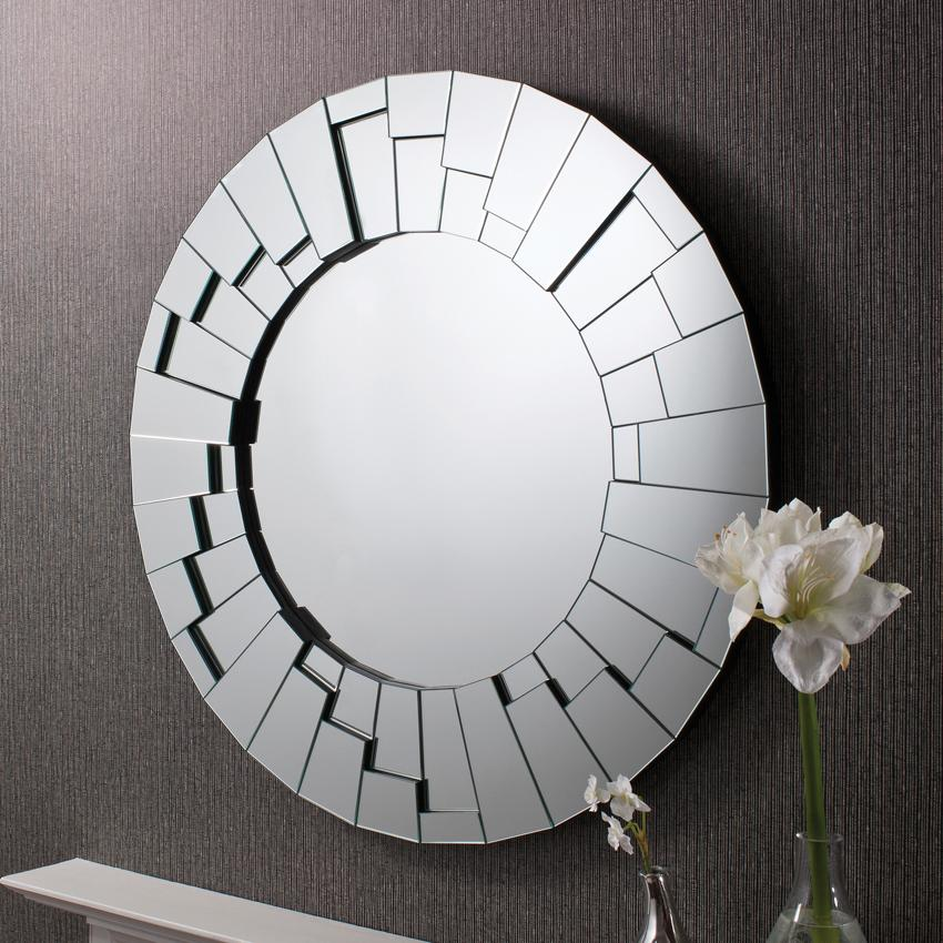 Modern Round Wall Mirror Photos