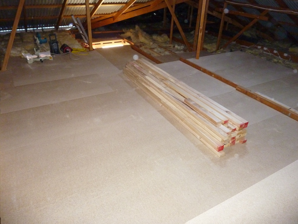 Image of: Attic Decking Plywood