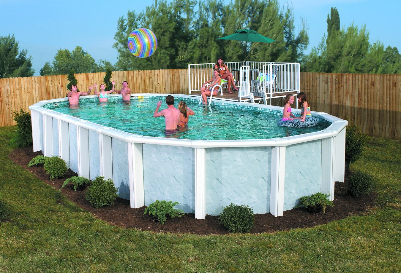 Image of: Awesome Aluminum Pool Deck