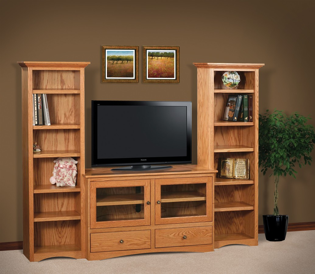 Image of: Awesome Bookcase Tv Stand