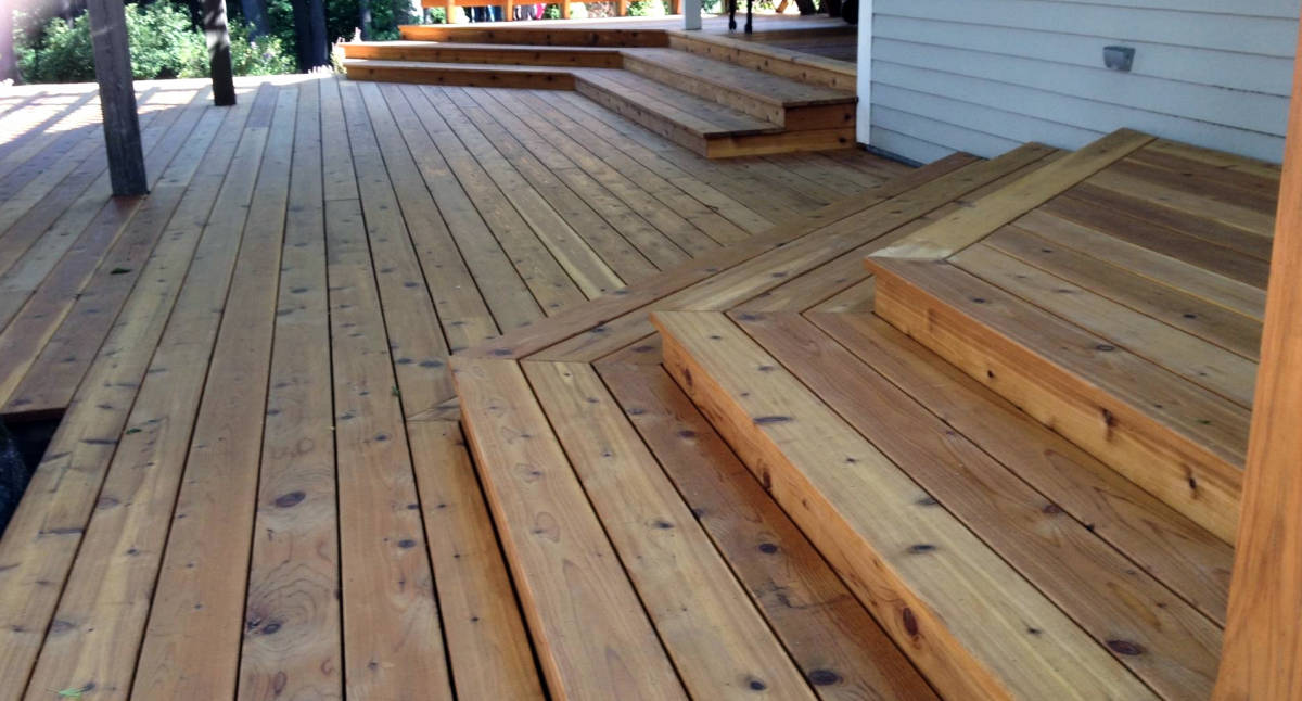 Image of: Awesome Cedar Decking Boards