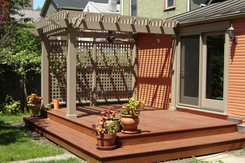 Image of: Awesome Deck Pergola