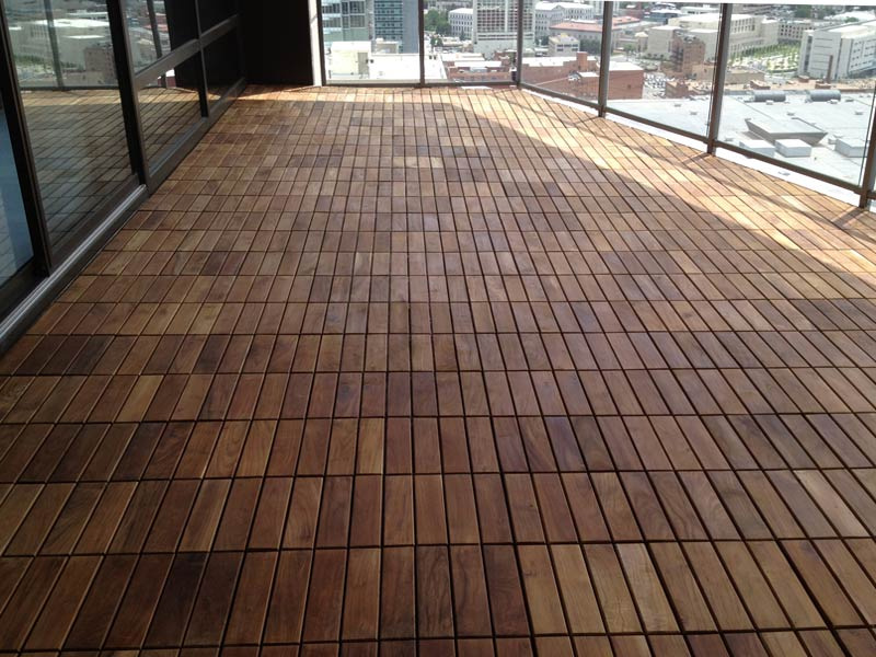 Image of: Awesome Deck Tile Design