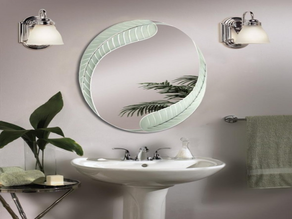 Image of: Awesome Oval Bathroom Mirrors