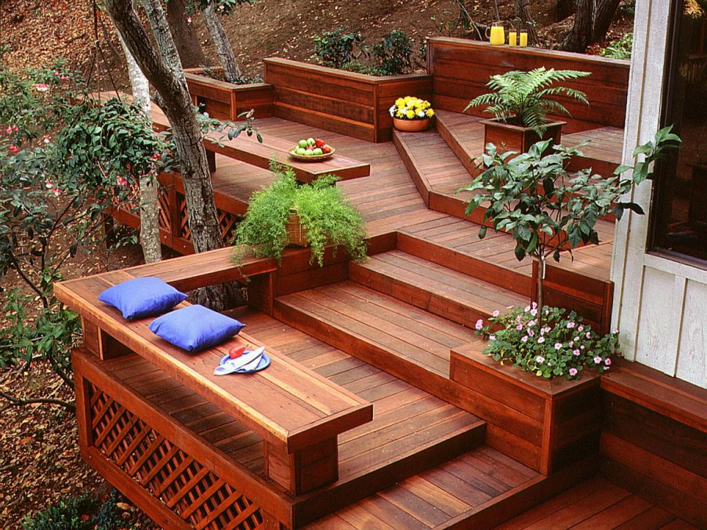 Image of: Awesome Redwood Decking