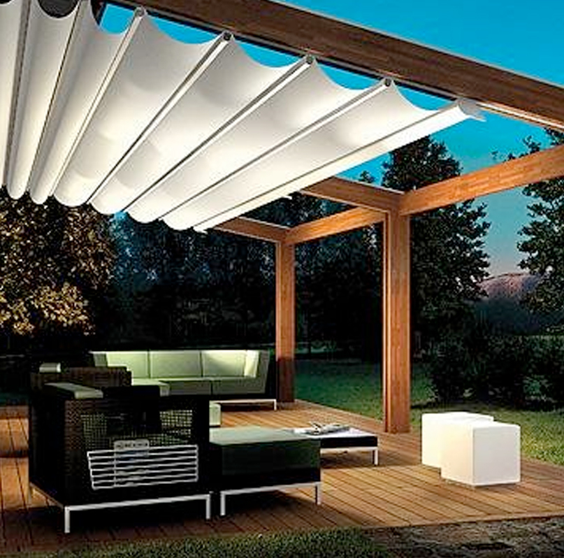 Image of: Awesome Retractable Deck Awnings