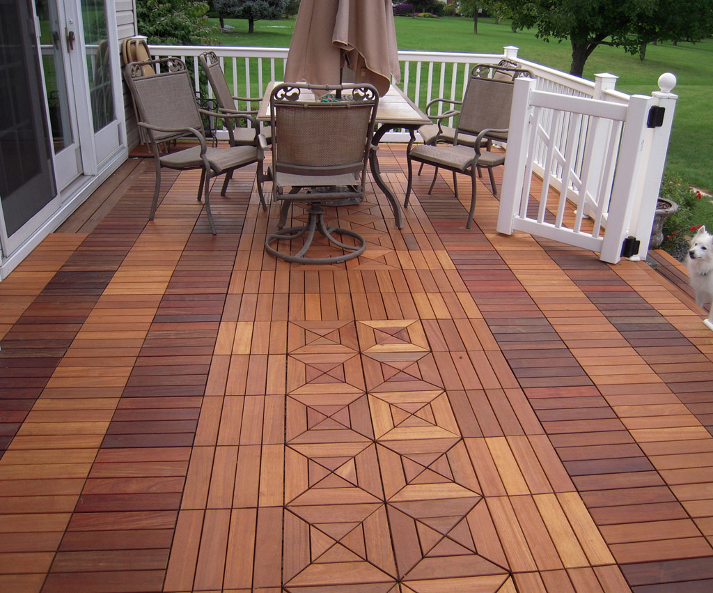 Image of: Awesome Teak Deck Tiles