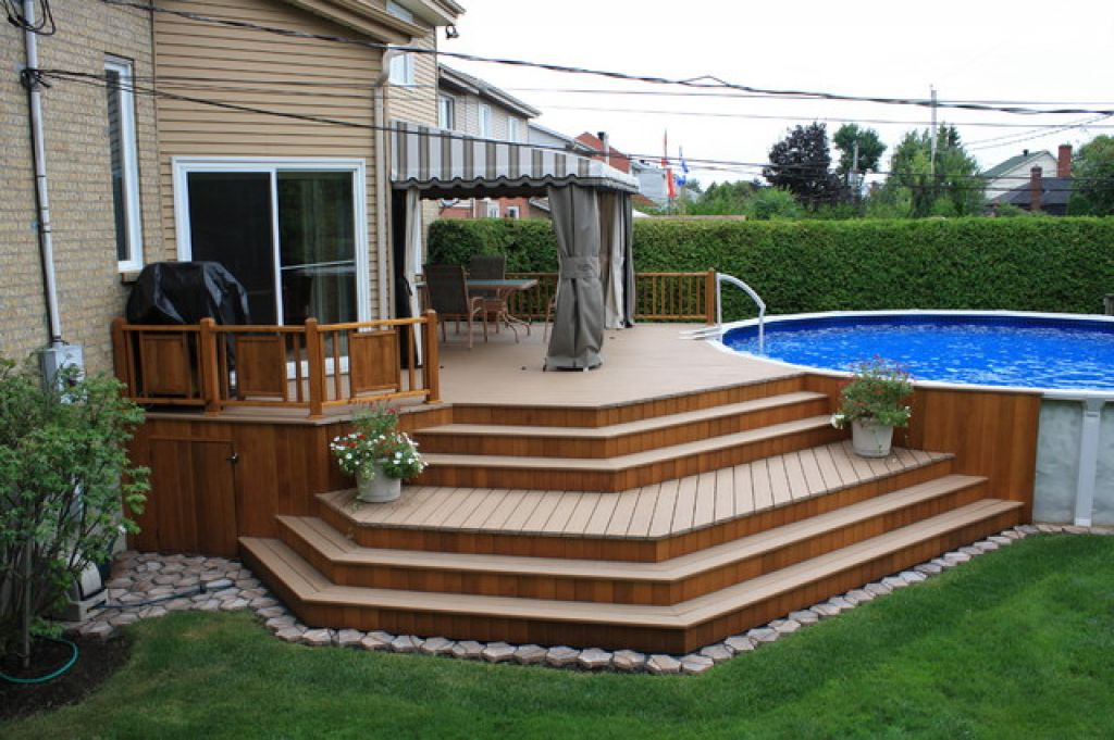 Image of: Back Yard Decks and Stairs