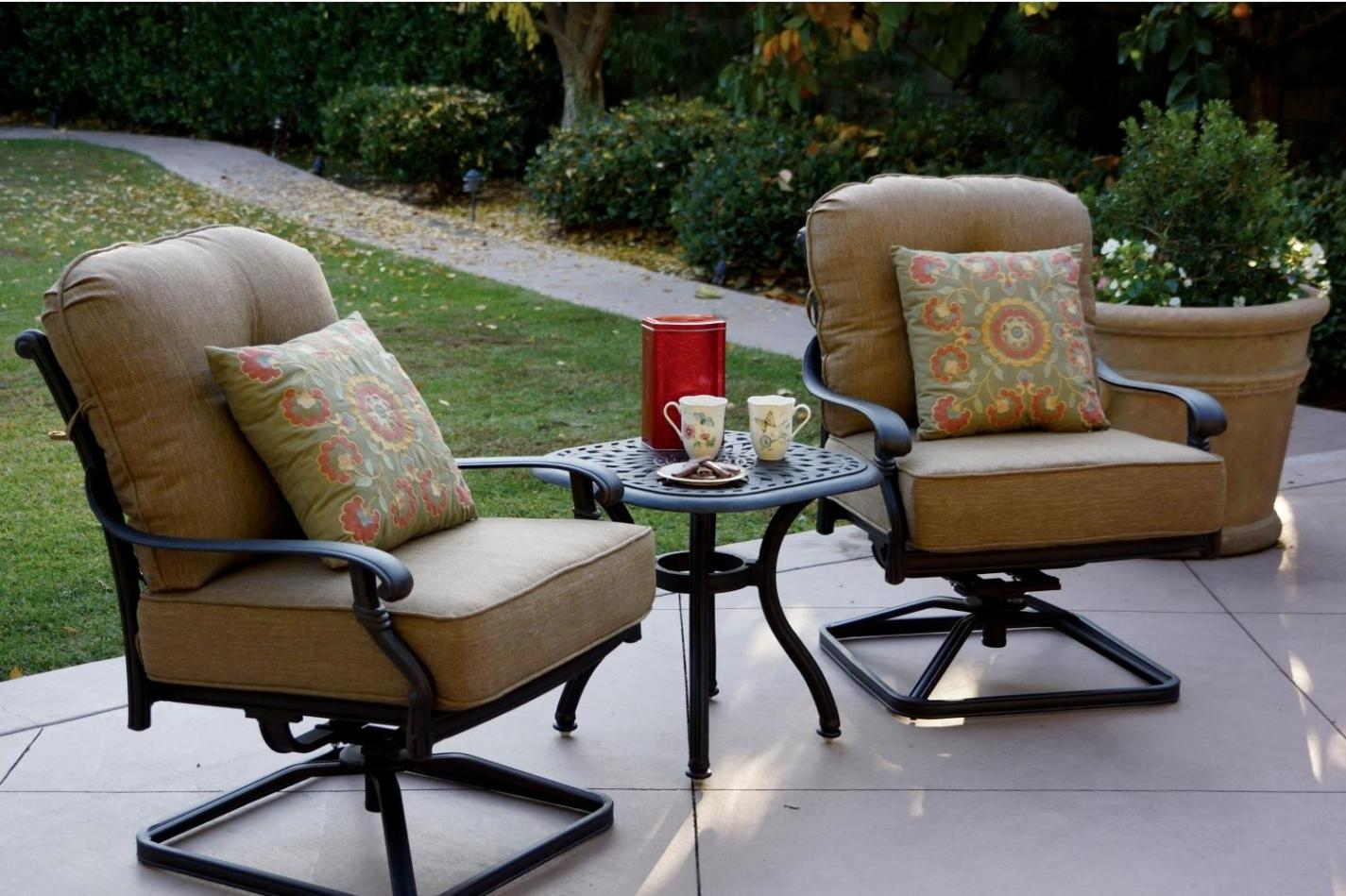 Image of: Bar Height Swivel Patio Chairs