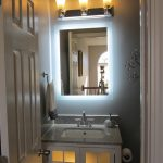 Bath Lighted Makeup Mirror Wall Mounted