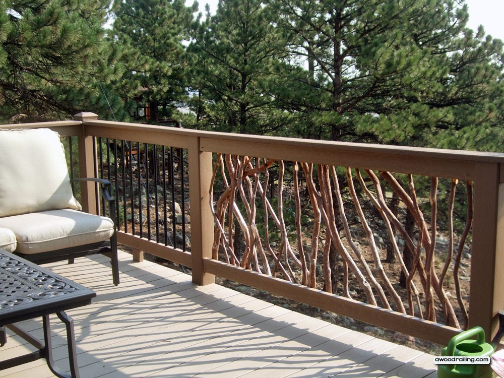 Image of: Beautiful Composite Deck Railings