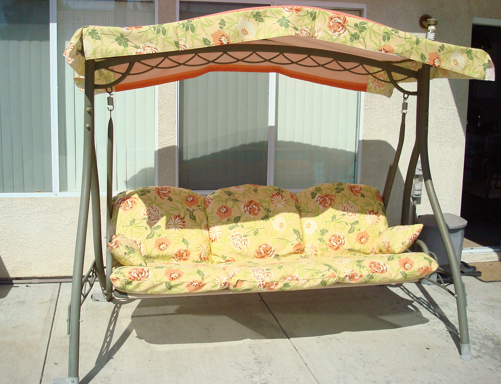 Image of: Beautiful Patio Swing with Canopy