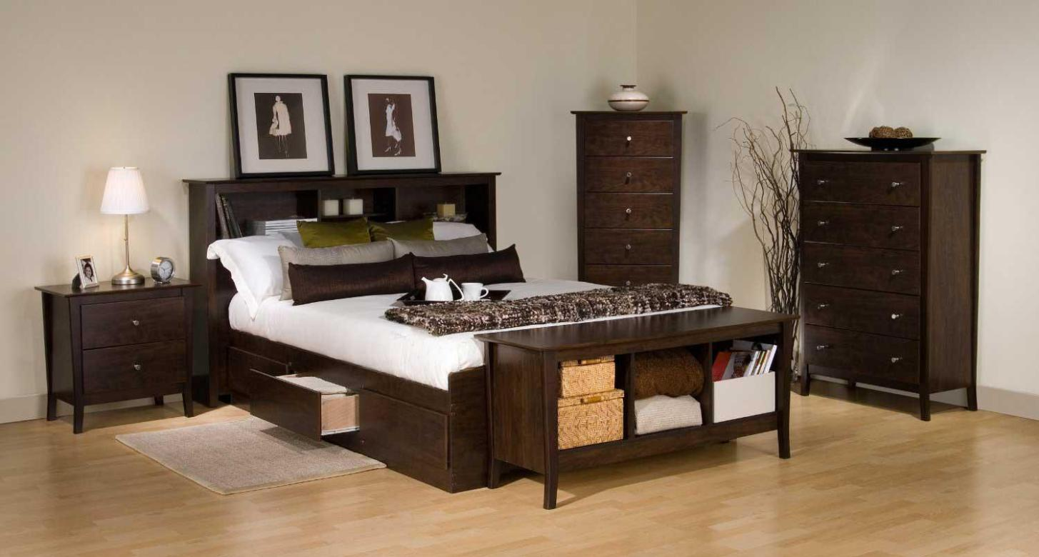 Image of: Bed Frames With Storage Drawers