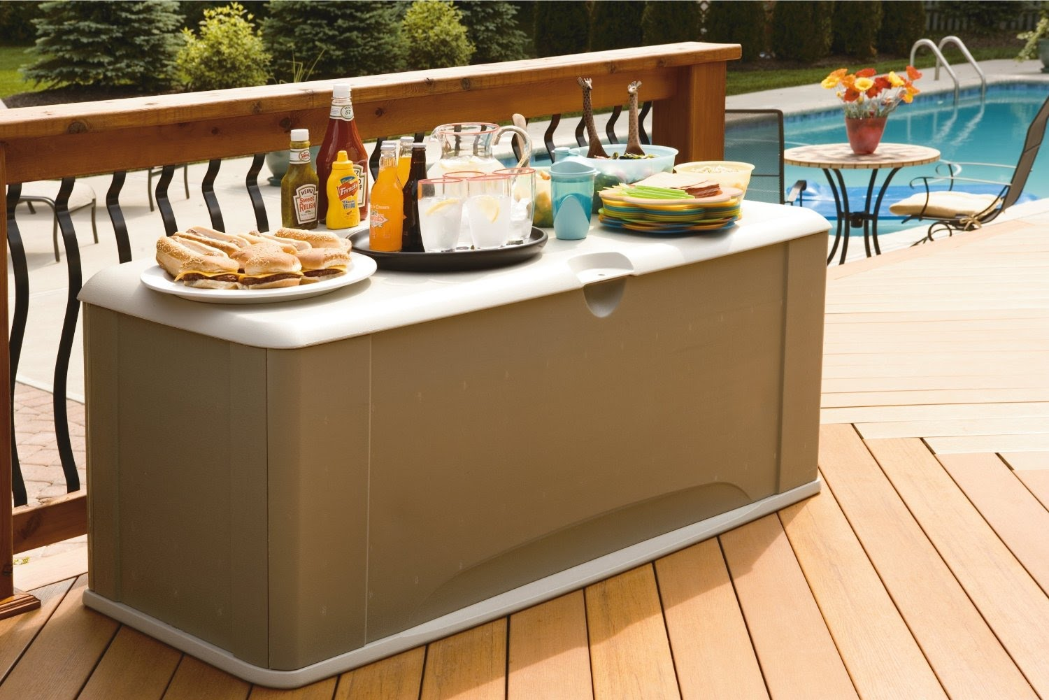 Image of: Bench Deck Box Black