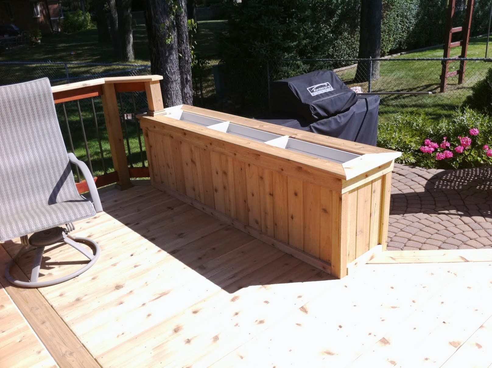 Image of: Bench Deck Box Template