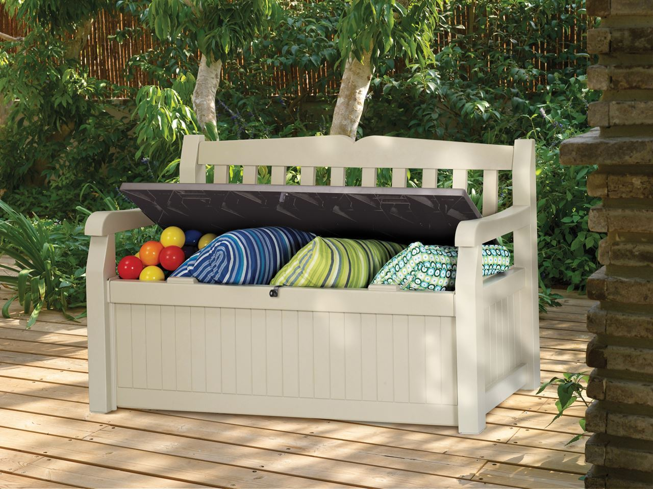 Image of: Bench Deck Box with Seat