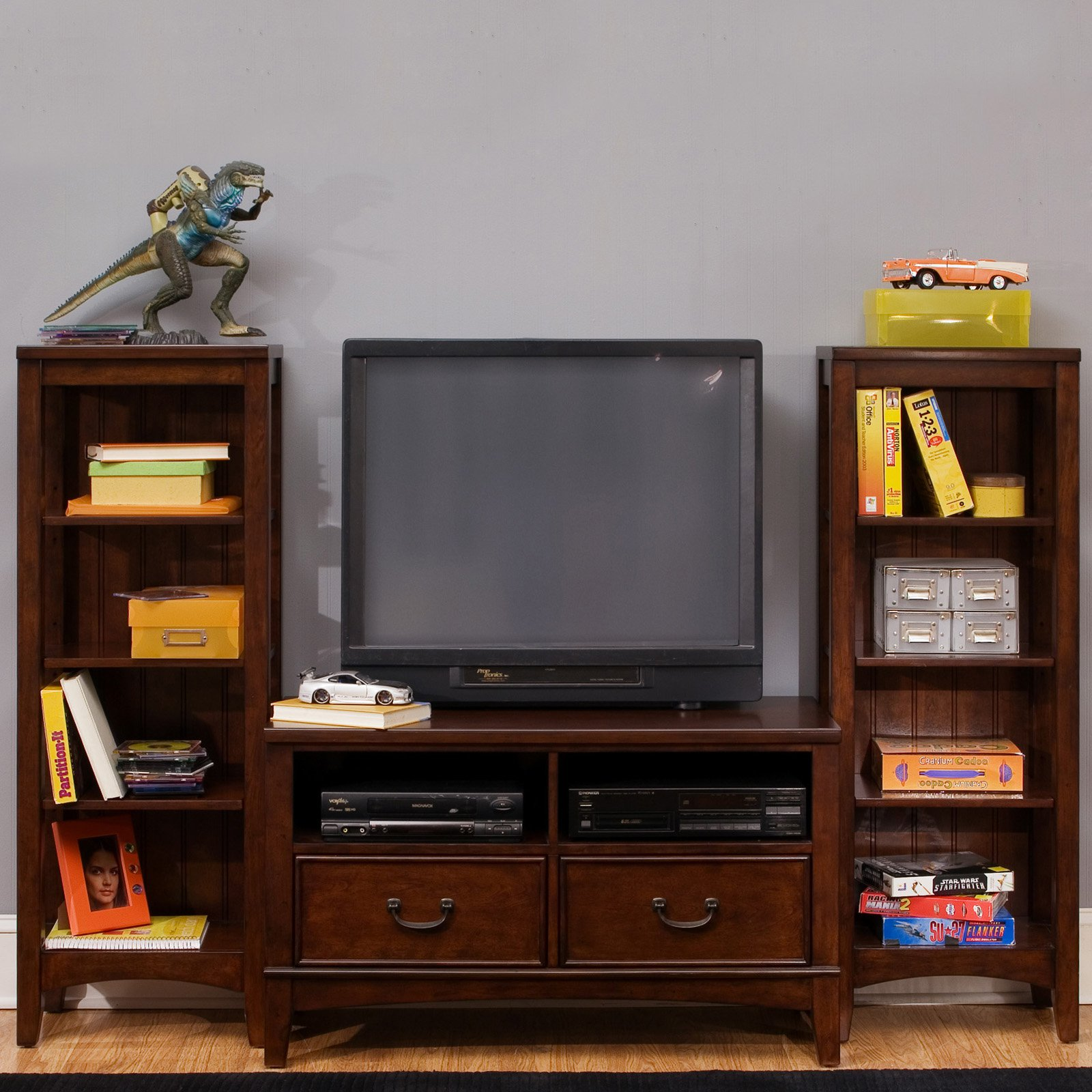 Image of: Best Bookcase Tv Stand